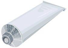 Apra il dentifricio in pasta del tubo del metallo isolato su fondo bianco Fotografie Stock Libere da Diritti