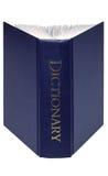 Apra il dizionario isolato Immagini Stock