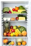 Apra il frigorifero immagine stock