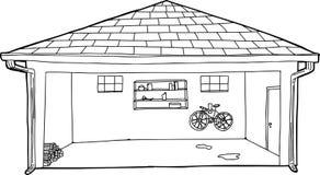 Profilo del garage con neve sulla cima illustrazione di for Garage con ponte in cima