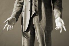 Apra il gesto, a fondo grigio Immagini Stock Libere da Diritti