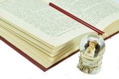 Apra il libro fotografie stock libere da diritti