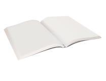 Apra il libro in bianco Fotografia Stock
