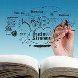 Apra il libro in bianco del processo aziendale Fotografie Stock