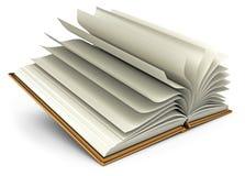 Apra il libro bianco. Isolato su bianco Fotografia Stock Libera da Diritti