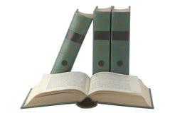 Apra il libro con il coperchio verde immagine stock libera da diritti
