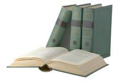 Apra il libro con il coperchio verde fotografie stock