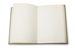 Apra il libro con le pagine in bianco Immagini Stock