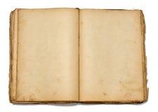 Apra il libro dell'annata su priorità bassa bianca Immagine Stock