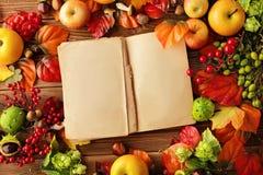 Apra il libro di cucina immagini stock libere da diritti