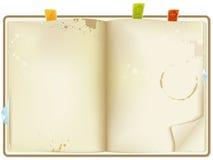 Apra il libro di ricetta Immagine Stock
