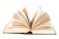 Apra il libro su bianco Fotografie Stock Libere da Diritti