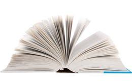 Apra il libro su bianco Immagini Stock