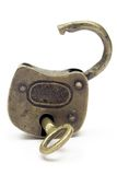 Apra il lucchetto (oro) Fotografia Stock Libera da Diritti