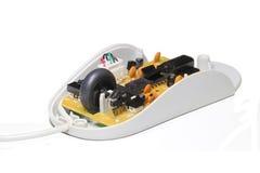 Apra il mouse del calcolatore Fotografia Stock Libera da Diritti