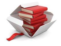 Apra il pacchetto con i libri Fotografia Stock