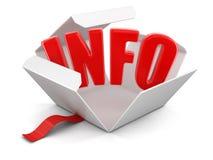 Apra il pacchetto con informazioni Immagini Stock