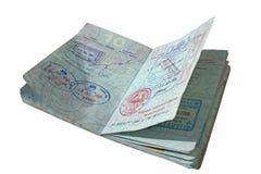Apra il passaporto con i visti asiatici Fotografia Stock Libera da Diritti