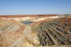 Apra il pozzo Australia di estrazione mineraria del taglio Immagini Stock Libere da Diritti