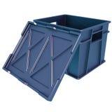 Apra il recipiente di plastica con un coperchio Immagini Stock Libere da Diritti