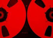 Apra il registratore dell'audio della bobina Fotografia Stock Libera da Diritti