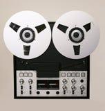 Apra il registratore dell'audio della bobina Immagine Stock