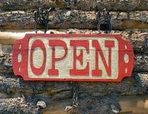Apra il segno Fotografie Stock