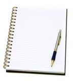 Apra il taccuino con la penna Immagine Stock Libera da Diritti
