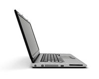 Apra il taccuino del computer portatile su fondo bianco Immagine Stock Libera da Diritti