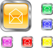 Apra il tasto del email illustrazione di stock