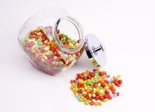 Apra il vaso dei fagioli di gelatina Fotografia Stock Libera da Diritti