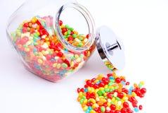 Apra il vaso dei fagioli di gelatina Immagini Stock Libere da Diritti