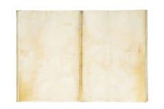 Apra il vecchio e libro di esercitazione in bianco sporco Fotografia Stock Libera da Diritti