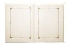 Apra il vecchio libro in bianco Immagini Stock
