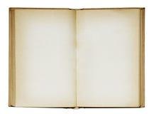 Apra il vecchio libro in bianco. Immagine Stock