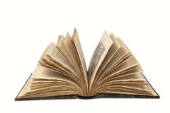 Apra il vecchio libro con il percorso di residuo della potatura meccanica Fotografia Stock