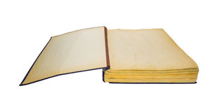 Apra il vecchio libro isolato Retro edizione d'annata Immagine Stock