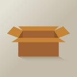 Apra il vettore marrone della scatola di carta Fotografie Stock Libere da Diritti