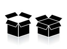 Apra l'icona della scatola Fotografia Stock