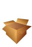 Apra l'illustrazione della casella di trasporto del cartone Fotografia Stock