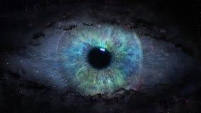 Apra l'occhio nello spazio Illustrazione Vettoriale