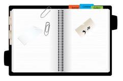 Apra l'organizzatore personale illustrazione di stock