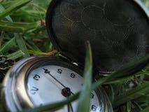 Apra l'orologio da tasca per le signore in erba Immagini Stock Libere da Diritti
