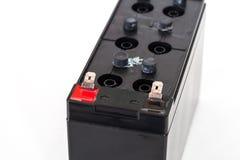 Apra la batteria sigillata isolata su fondo bianco Immagini Stock Libere da Diritti