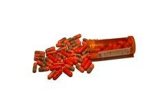 Apra la bottiglia di pillola Fotografia Stock Libera da Diritti