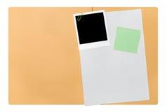 Apra la cartella di archivio in bianco Fotografia Stock
