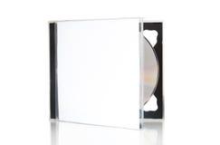 Apra la casella CD con il disco Fotografia Stock Libera da Diritti