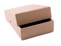 Apra la casella di carta Fotografie Stock