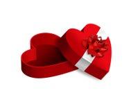 Apra la casella a forma di cuore fotografia stock