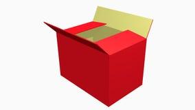 Apra la casella rossa Immagine Stock Libera da Diritti